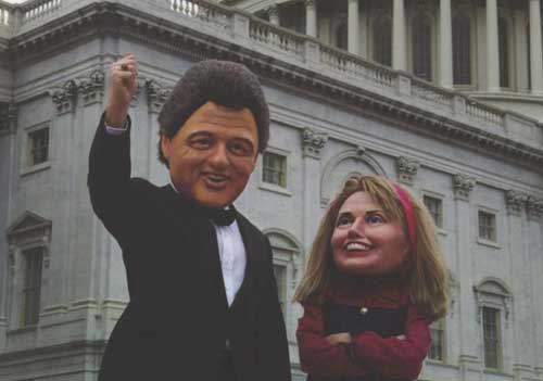 Clintons big heads