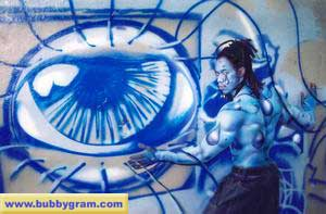 Body Painter - Blue Man