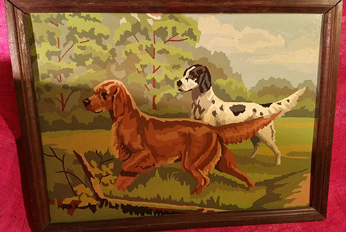 Vintage Paint by Number - Hunting Dogs