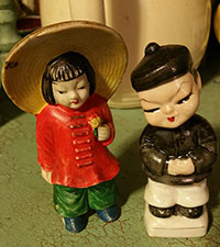 vintage Chinese couple ceramics