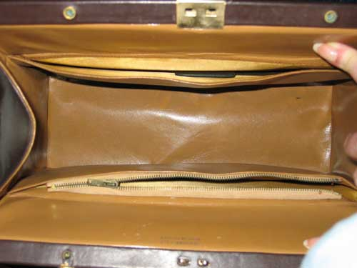 vintage brown calfskin handbag