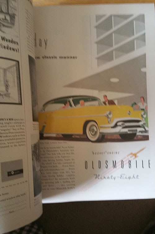 Oldsmobile Ad. Better Homes and Gardens April 1953