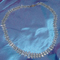 Graduated Clear Crystal Beaded Necklace