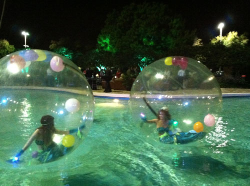 Bubble Mermaids in Pool
