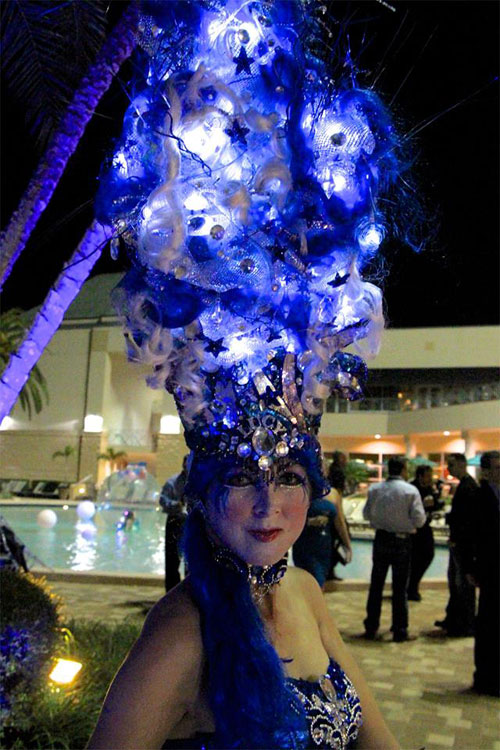 Blue Light Up Costume