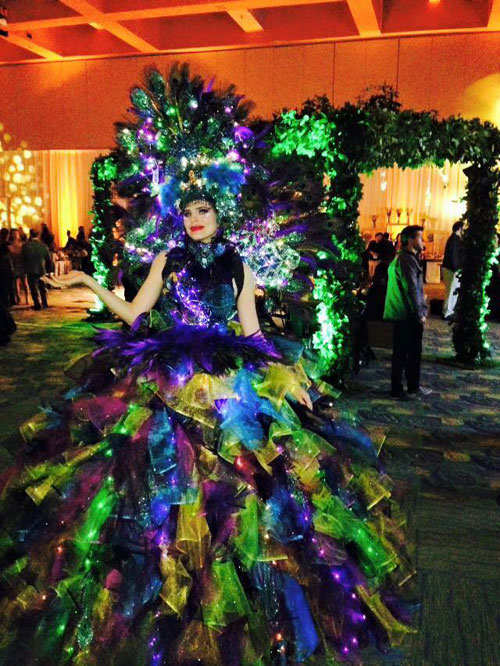 Elegant Peacock  - Party Character - Orlando