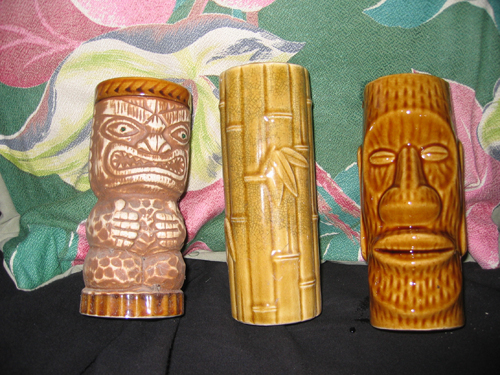 Vintage Tiki Glasses - Orchids of Hawaii