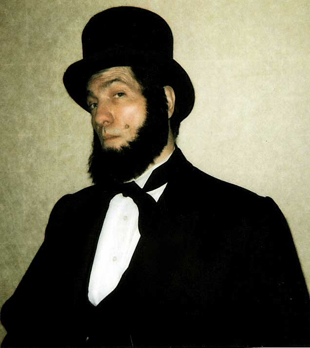 Honest Abe Impersonator