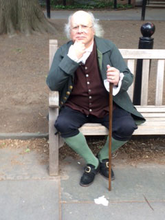 Ben Franklin Impersonator - Philadelphia