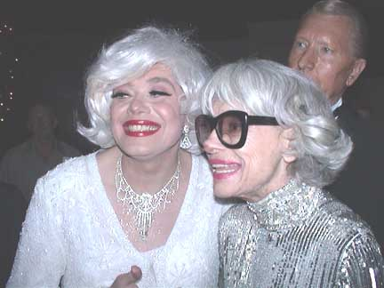 Carol Channing Lookalike and the real Carol Channing