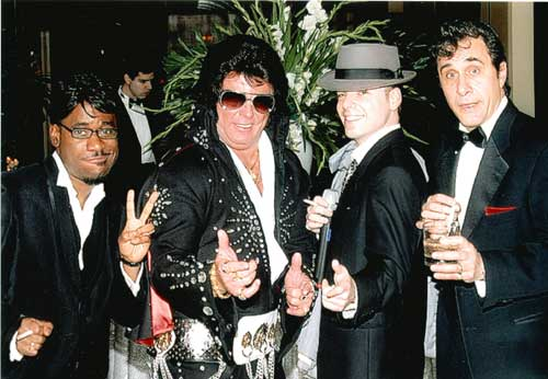 Elvis Impersonatora and Rat Pack