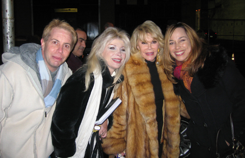 JOan Rivers with impersonators