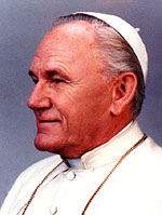 Pope john Paul II impersonator