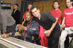 Manhattan Percussion's Ivo Araujo and Wyclef Jean