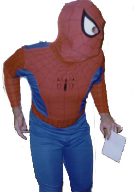 Spiderman impersonator
