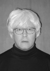 Andy Warhol Impersonator