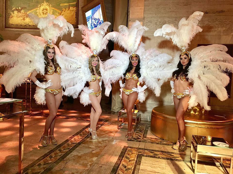 White Feathered Showgirls