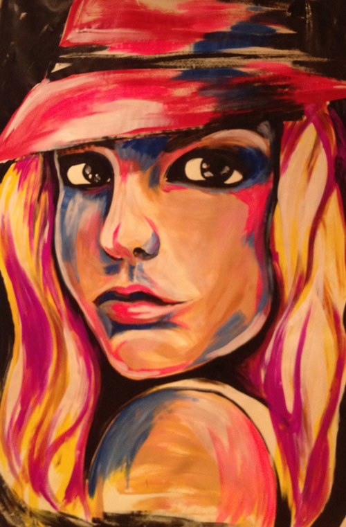 Speed Painting Britney Spears Portrait - Finished