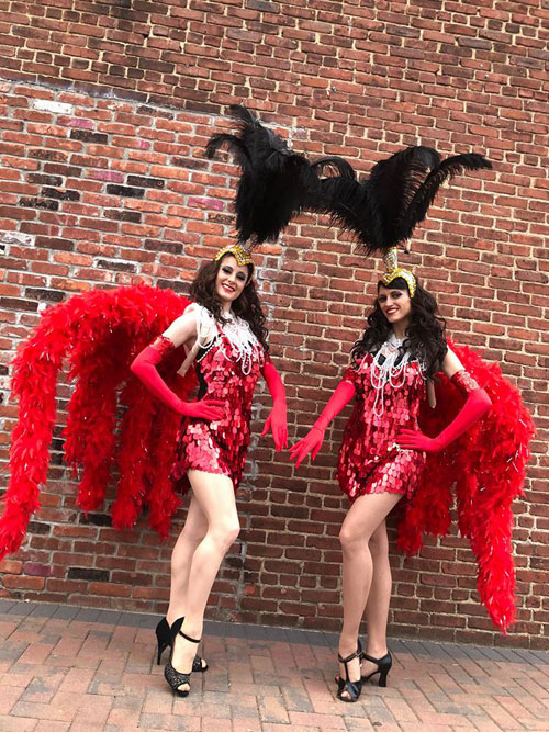Red and Black Showgirls