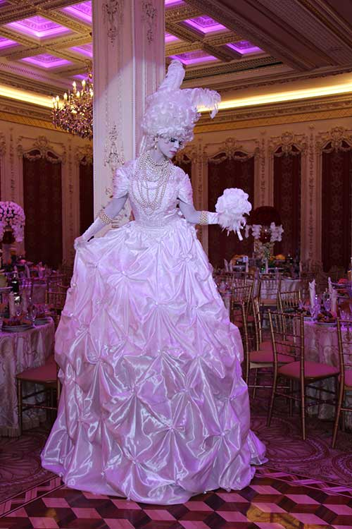 """Marie Antoinette"" Living Statue/ Entrance Greeter"