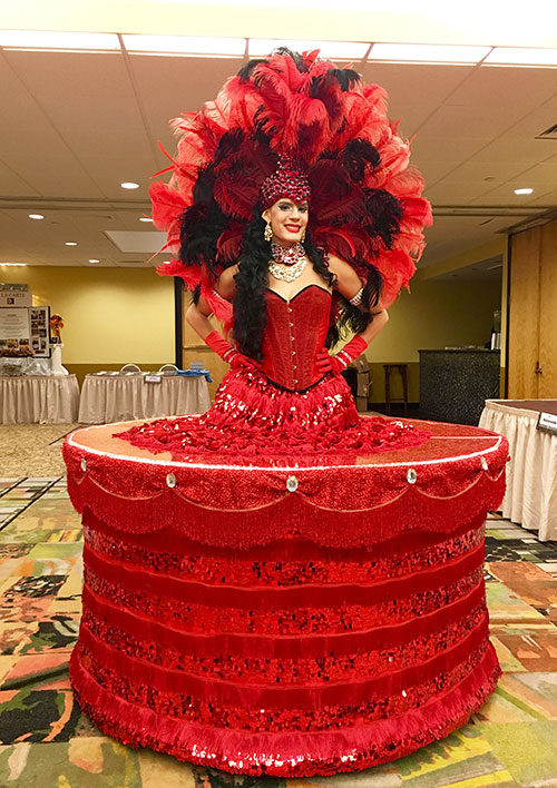 Red Showgirl Table