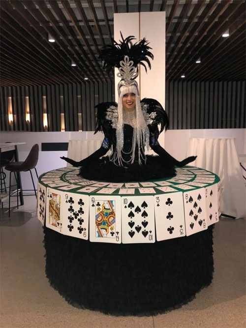 Black Playing Card Table