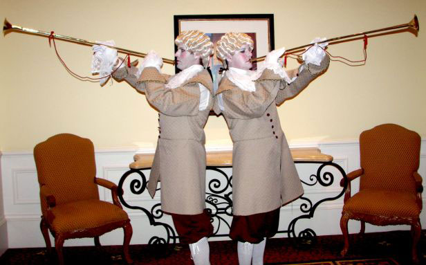 Venetian costumed trumpeters - Orlando