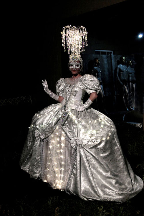 whie marie antoinette chandelier costume off