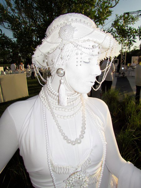 White Erte living statue - Florida